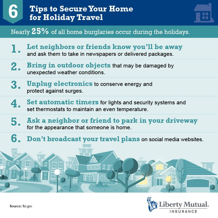 6 Tips To Secure Your Home For Holiday Travel Safety Home
