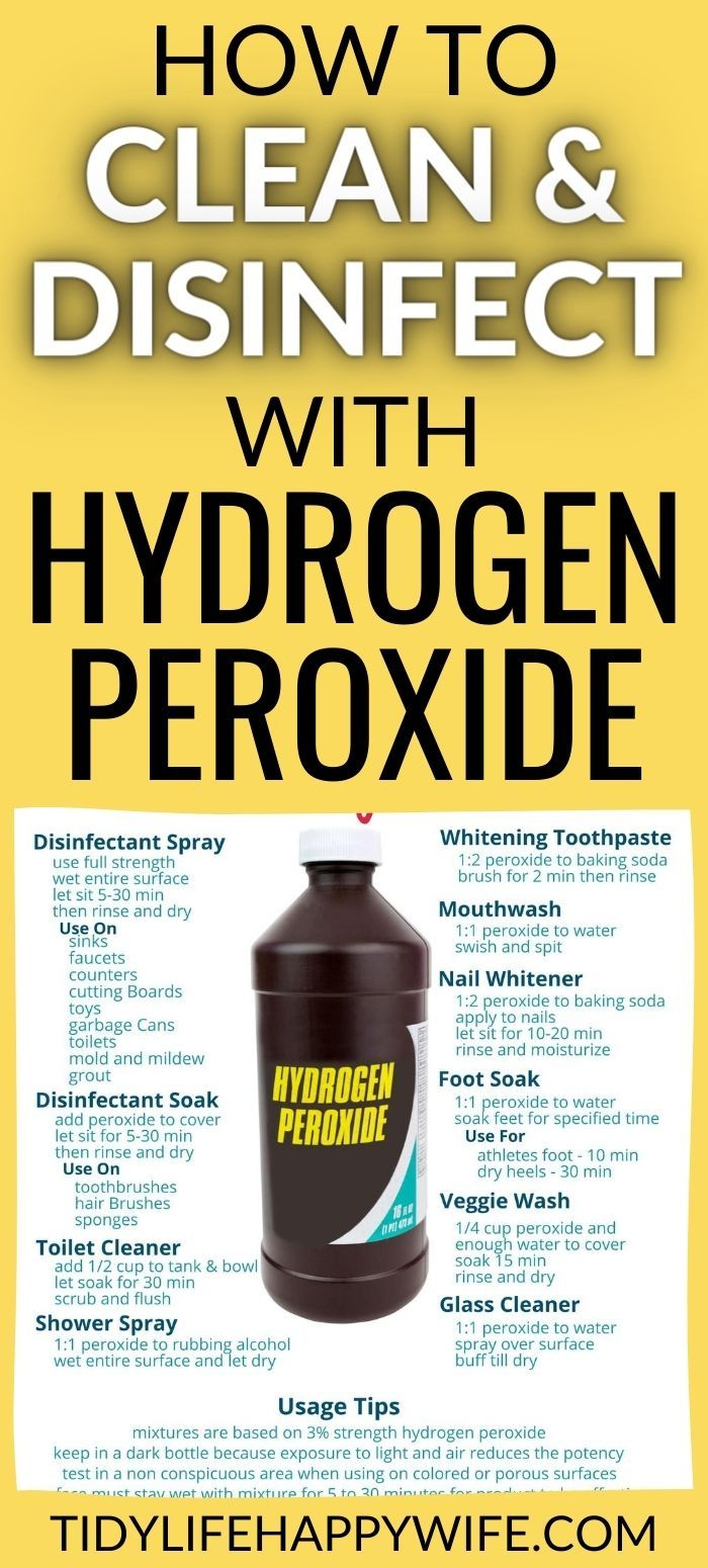 21 Useful Hydrogen Peroxide Hacks to Help You Clean in