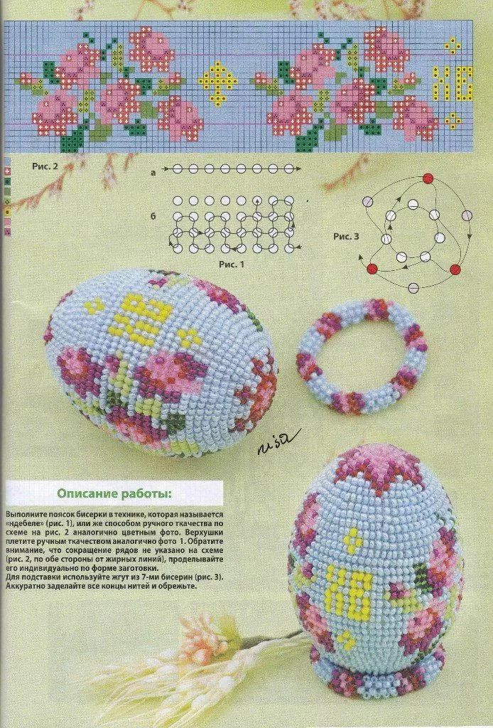яйцо оплетенное бисером схема: 5 тыс изображений найдено в ...