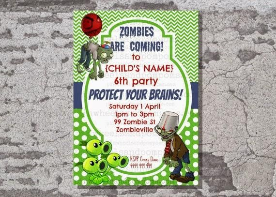 A Boys Plants vs Zombies Birthday Party To be Them and