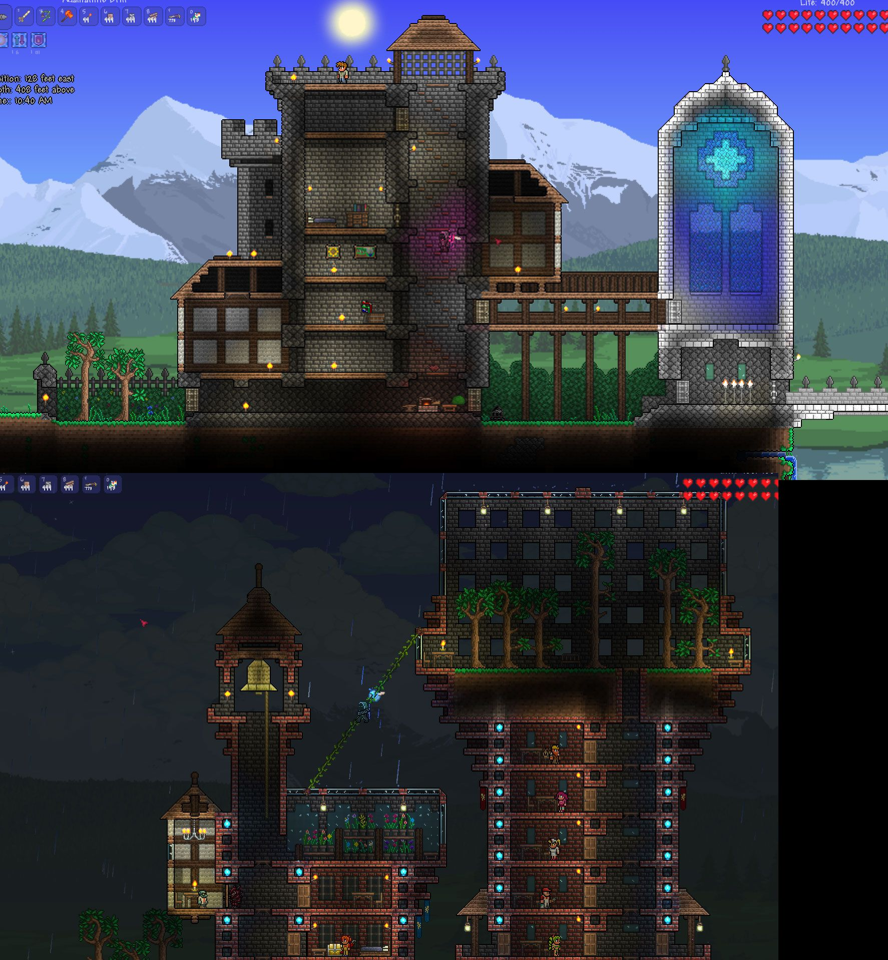 Terrarium Terraria House Design: Interesting Use Of A Walkway