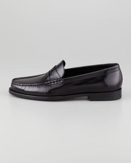 62ce268b36a Saint Laurent Classic Penny Loafer Black in Black for Men