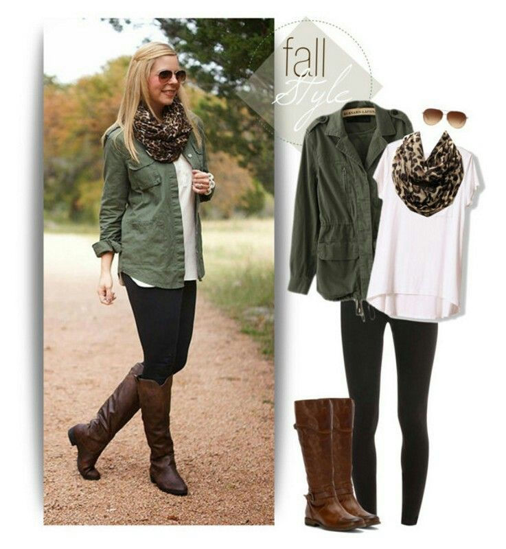 My go to this fall/winter. Green jacket, white blouse, black