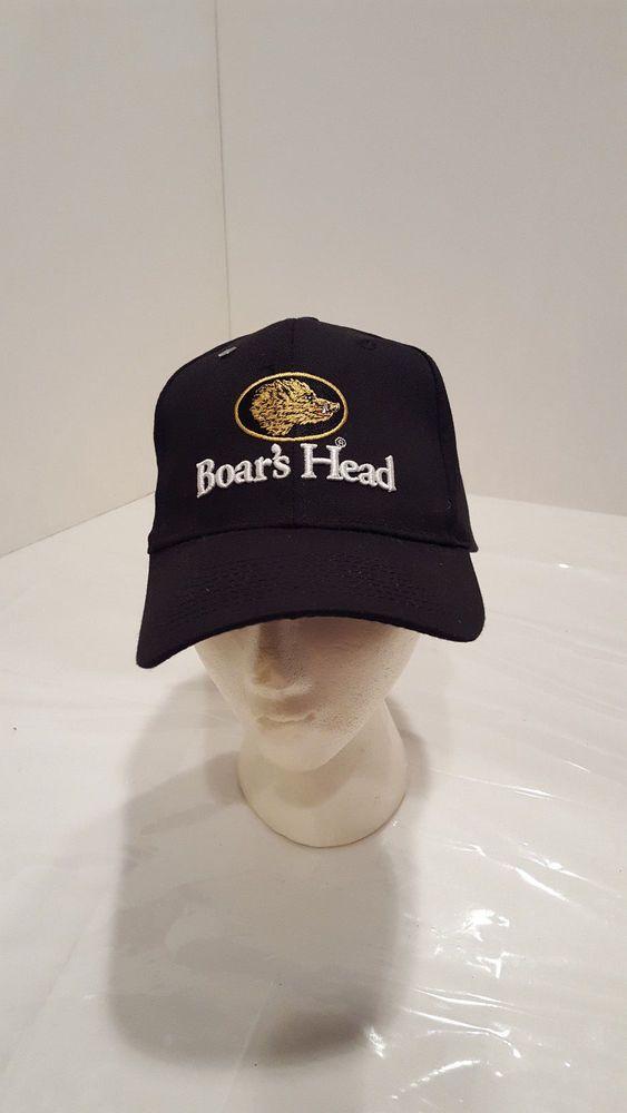 2d753277 Boars Head brand Deli Catering Snapback Cap Hat Black Tan Beige Logo ...