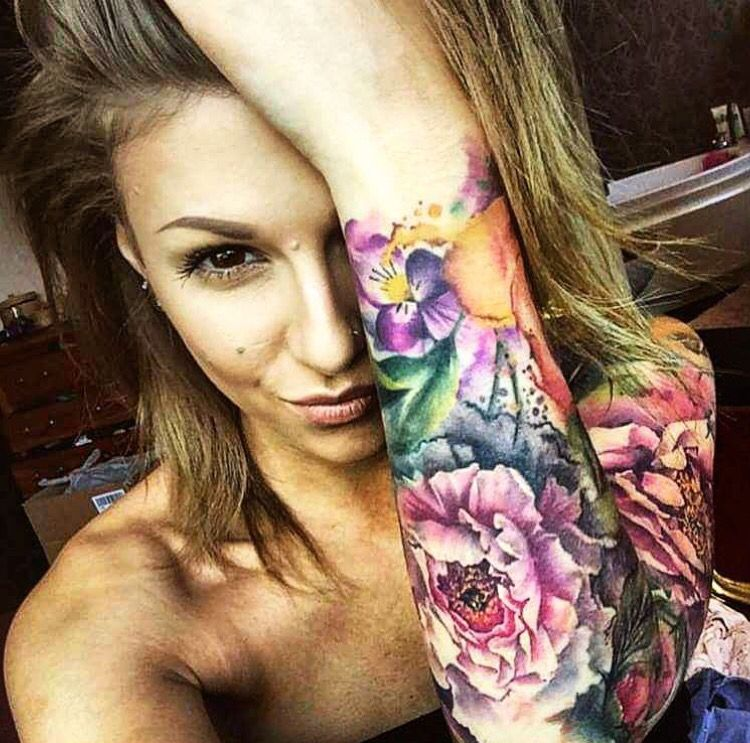 Idea by Kelsey Warner on Tattoos Floral tattoo sleeve