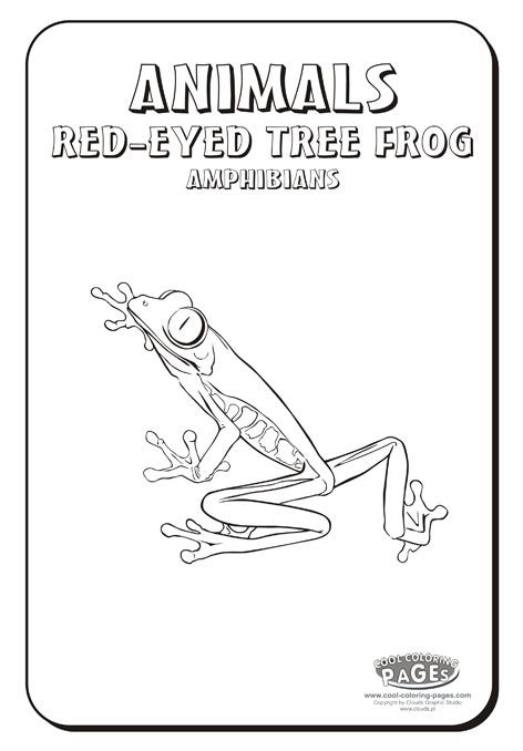 More Coloring Options Frog Coloring Pages Red Eyed Tree Frog