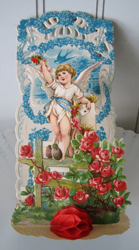 Vintage Valentine Pop Up Card Germany Antique by willowpaige, $18.00