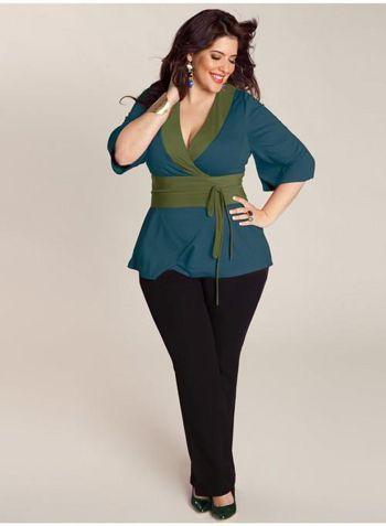 16bbbfc521a blusas de vestir para gorditas 2014 - Buscar con Google | moda ...