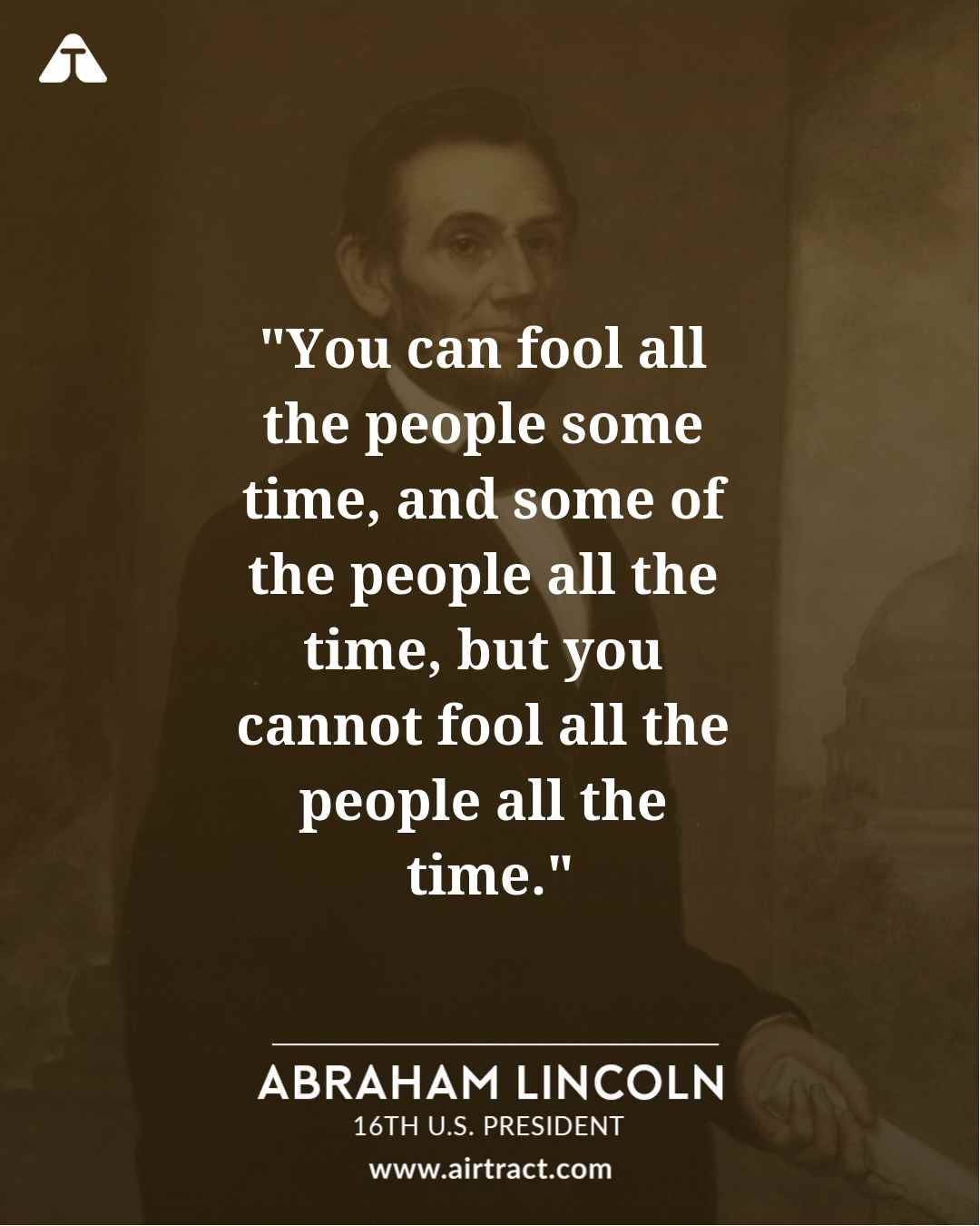 Abraham Lincoln Fool Quote : abraham, lincoln, quote, Abraham, Lincoln, Quotes, Daily