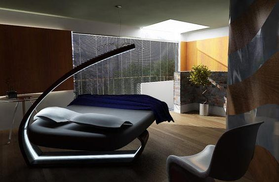 Design And Furniture: Futuristic Bedroom Design LED Lighting by ...