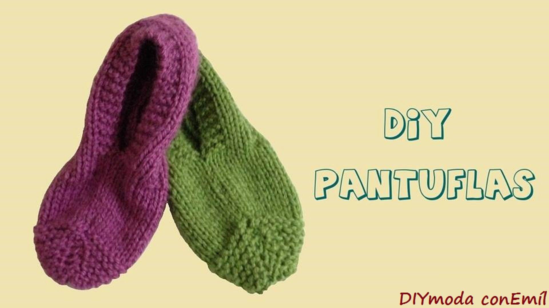 Cómo tejer pantuflas en dos agujas para principiantes | zapatillas ...