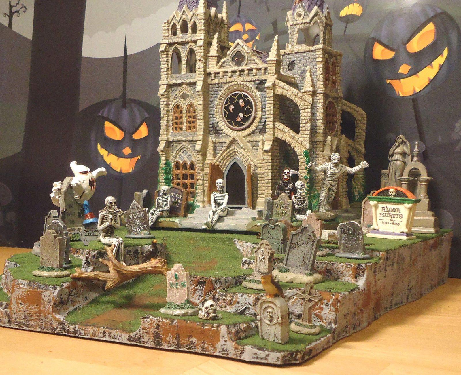 Halloween Display Platform Base For Dept 56 Snow Village