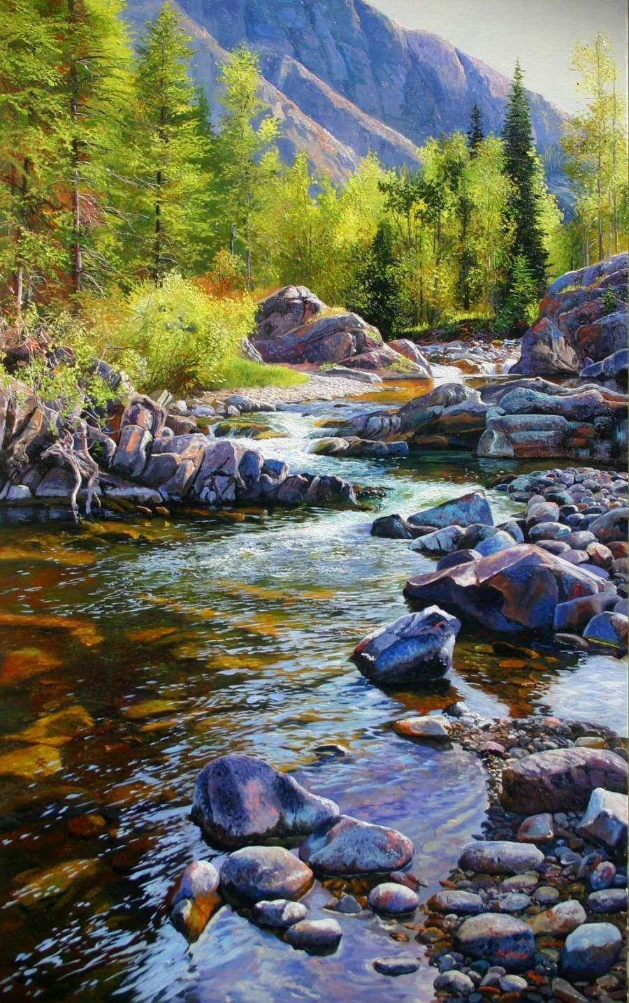Andrew kiss cameron creek landscape paintings