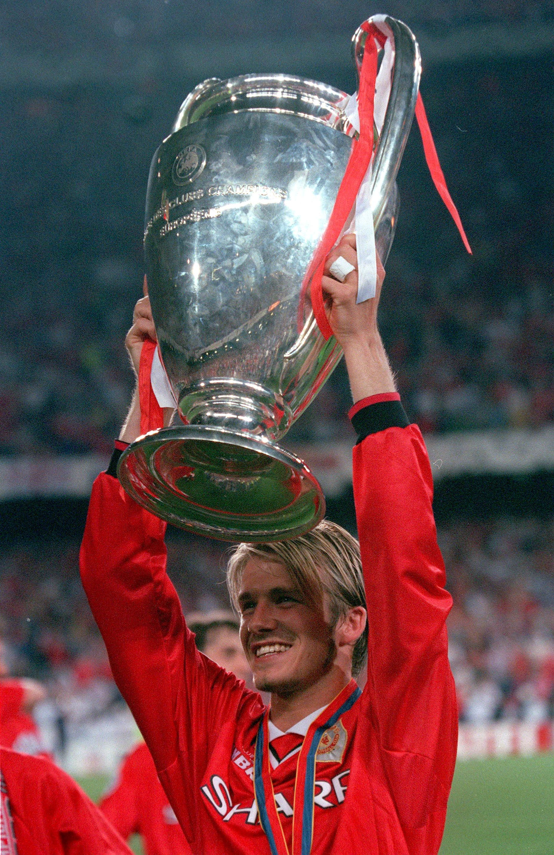 David Beckham a European Cup winner after manutd