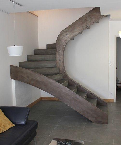 12 limons m talliques marches b ton anthracite cir guillot prefa escalier marche marche. Black Bedroom Furniture Sets. Home Design Ideas