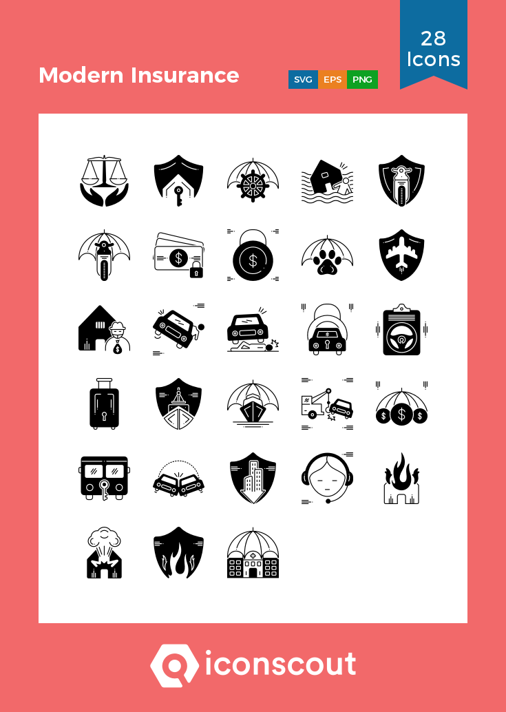 Download Modern Insurance Icon Pack Available In Svg Png Eps Ai Icon Fonts Icon Icon Pack Icon Font