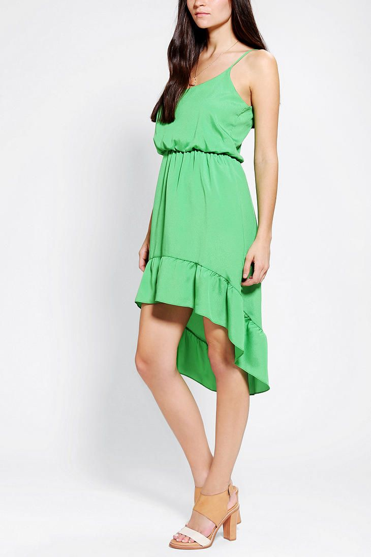 Pins And Needles Silky Ruffle-Hem High/Low Dress Online Only