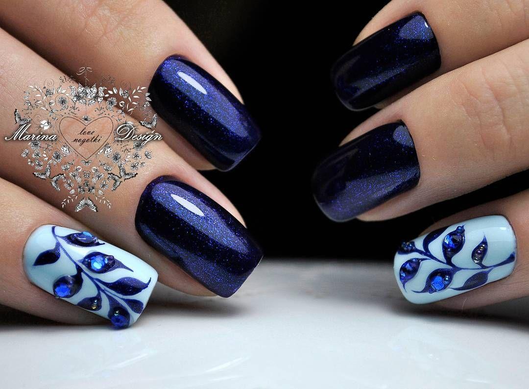 Diseño Azul | uñas | Pinterest | Diseño azul, Azul y Diseños de uñas