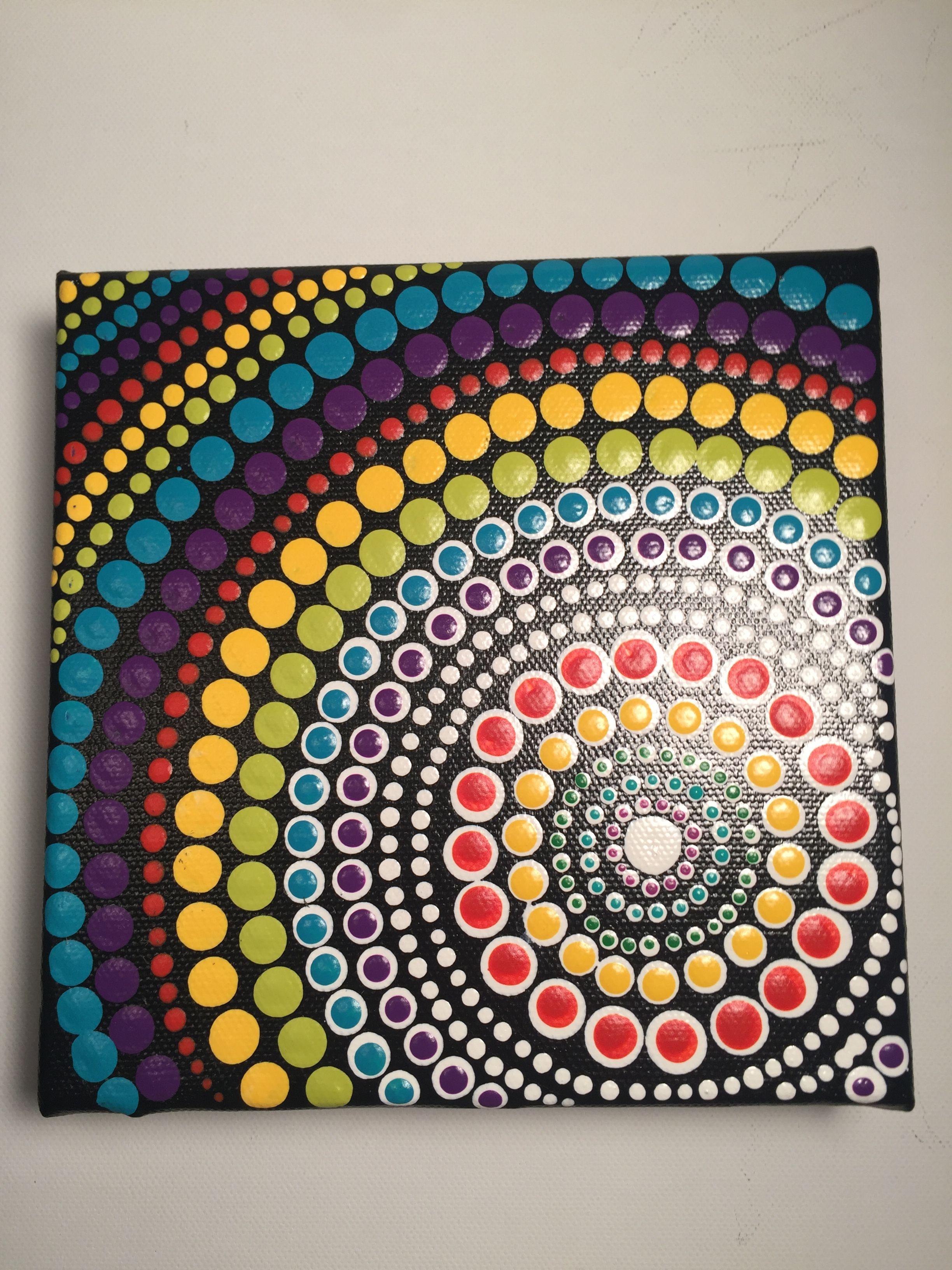 Pin By Miluz On Pintura En Puntos Dot Painting Mandala