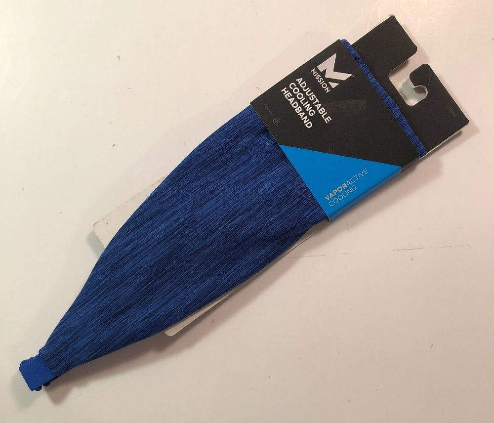 Mission Vaporactive Cooling Lockdown Headband Royal Space Dye