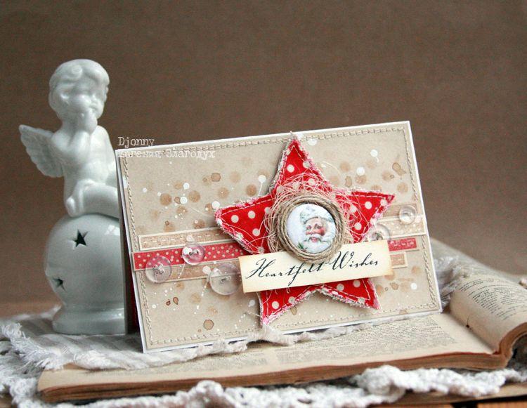 Новогодняя скрап открытка звезда, пасху анимации открытка