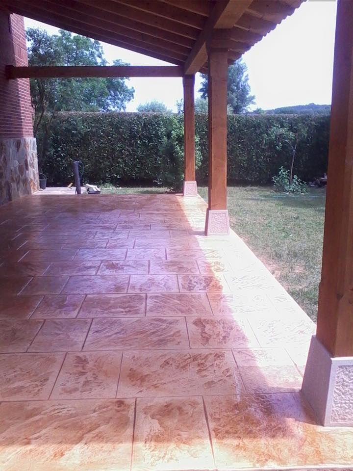 Pavimento de porche de casa particular en hormig n - Casas con porche ...