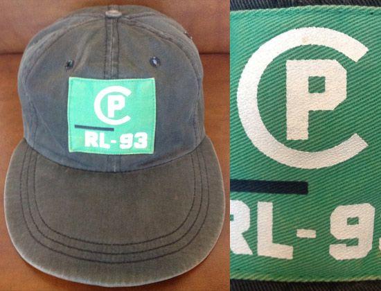 Vintage POLO RALPH LAUREN「CP RL 93」Fitted Baseball Cap  db7a16d289c