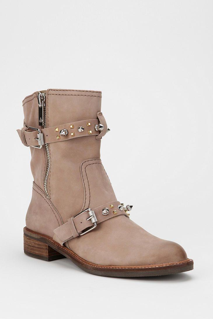 Sam Edelman Adele Spike-Strap Moto Boot