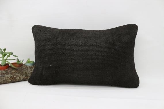 Yoga Pillow 16x42 Navajo Pillow Flat Pillow,Lumbar Throw Pillow SP40107 303 Hemp Pillow Covers Handwoven Kilim Pillow Gray Pillow