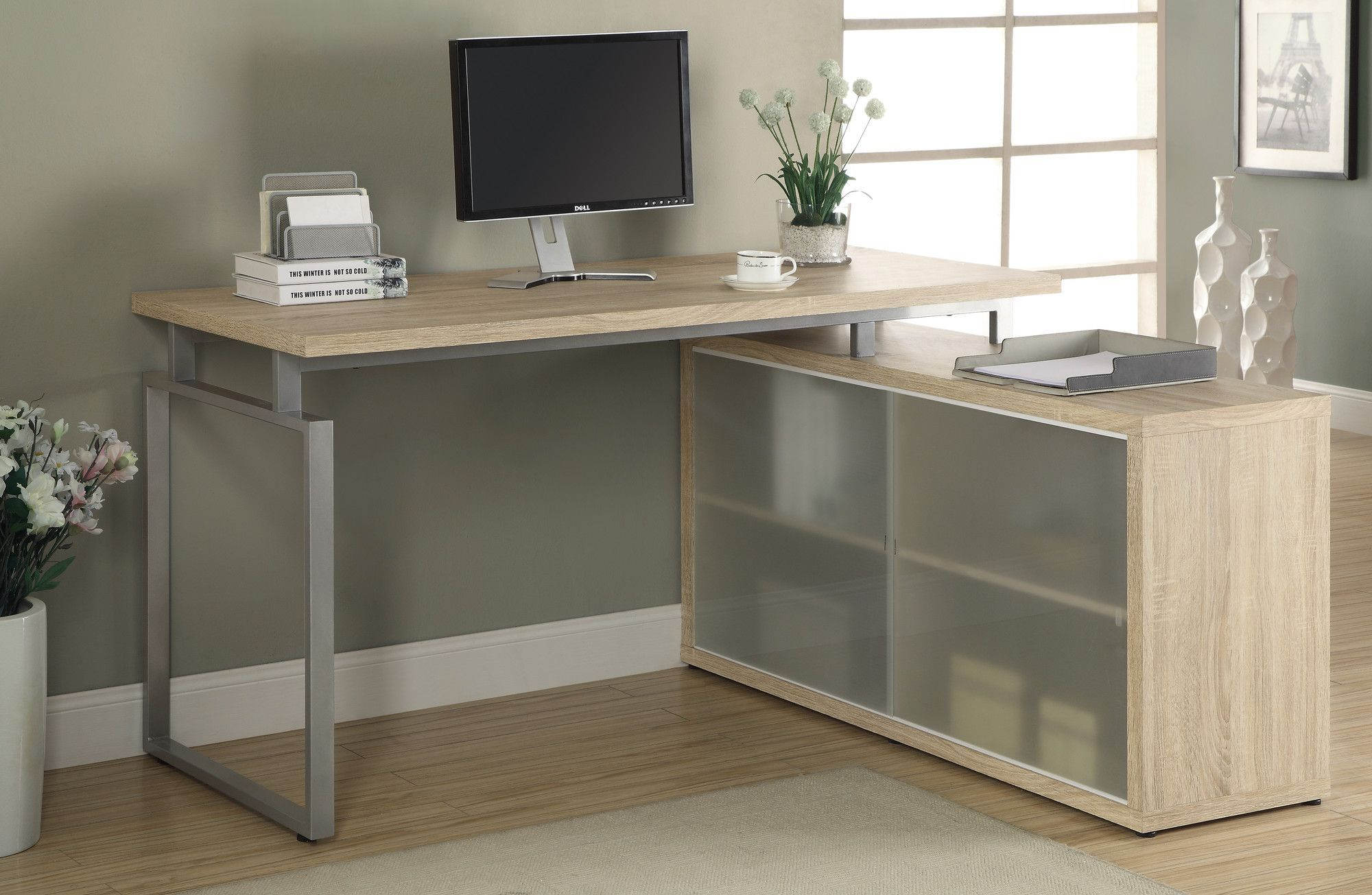 Monarch specialties inc. kelsey l shaped writing desk & reviews