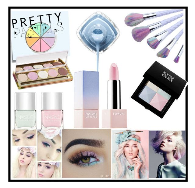 """""""Untitled #164"""" by julieta-miranda ❤ liked on Polyvore featuring beauty, Post-It, Nails Inc., Winky Lux, Sephora Collection and Givenchy"""