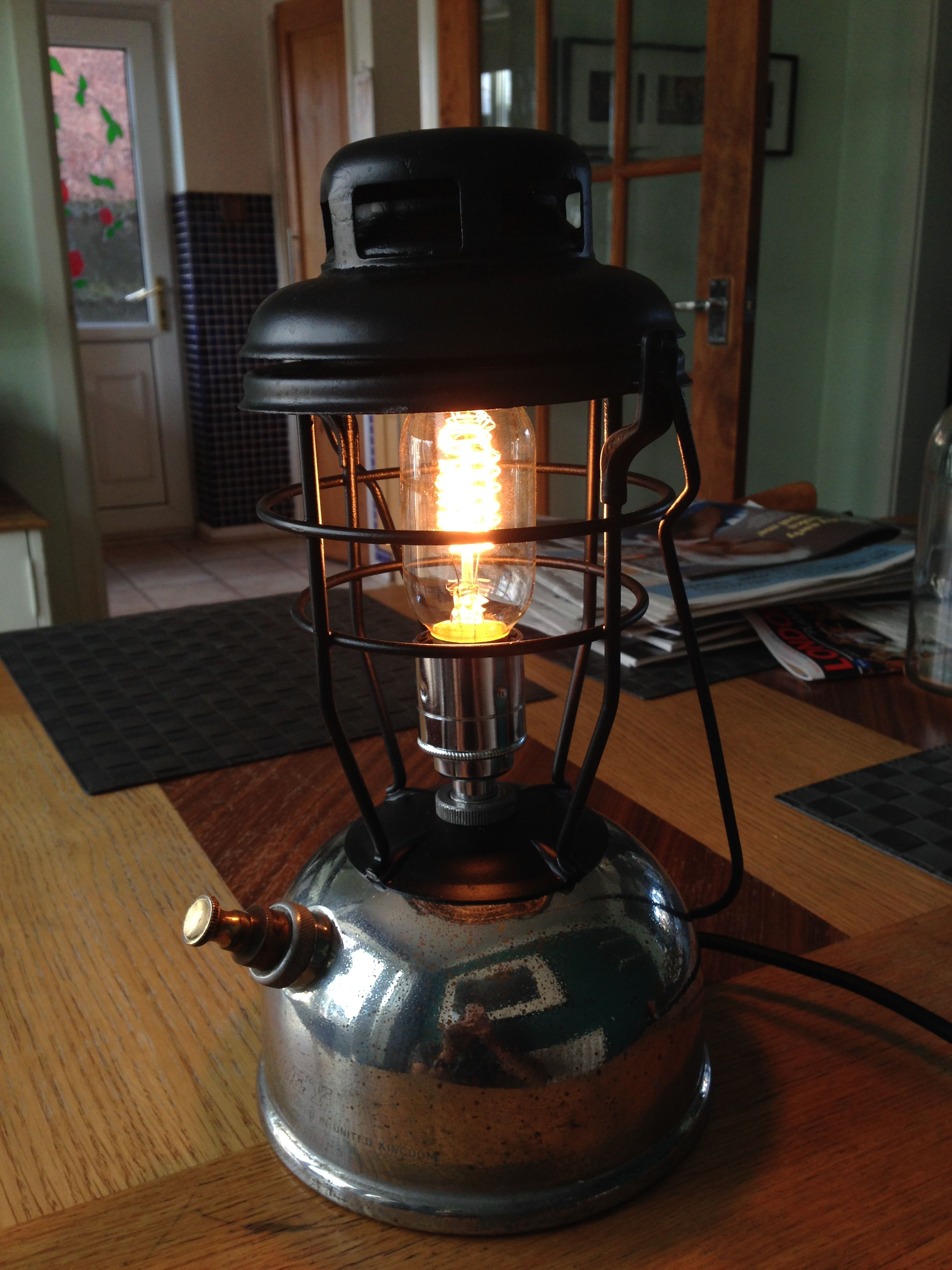 Upcycled Tilley Paraffin Lamp Found At An Antiques Market Old