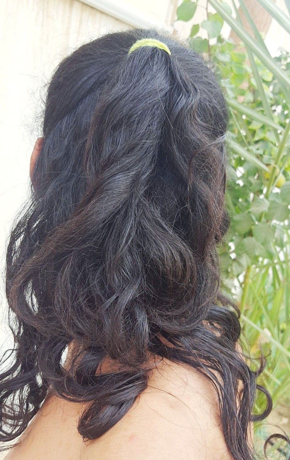 Half Ponytail Hairstyle Hair Hairstyle Ponytail Tie Tied Style Long Half تسريحة شعر ذيل الحصان النصفية تسريحة شعر ربط الشعر Tied Hair Long Hair