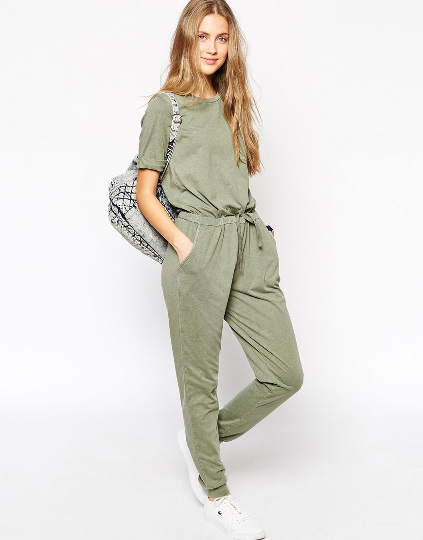 c4e6d720ce0 ASOS Washed Casual Jumpsuit With Drawstring