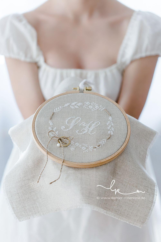 vintage wedding pin lace ring bearer pillow