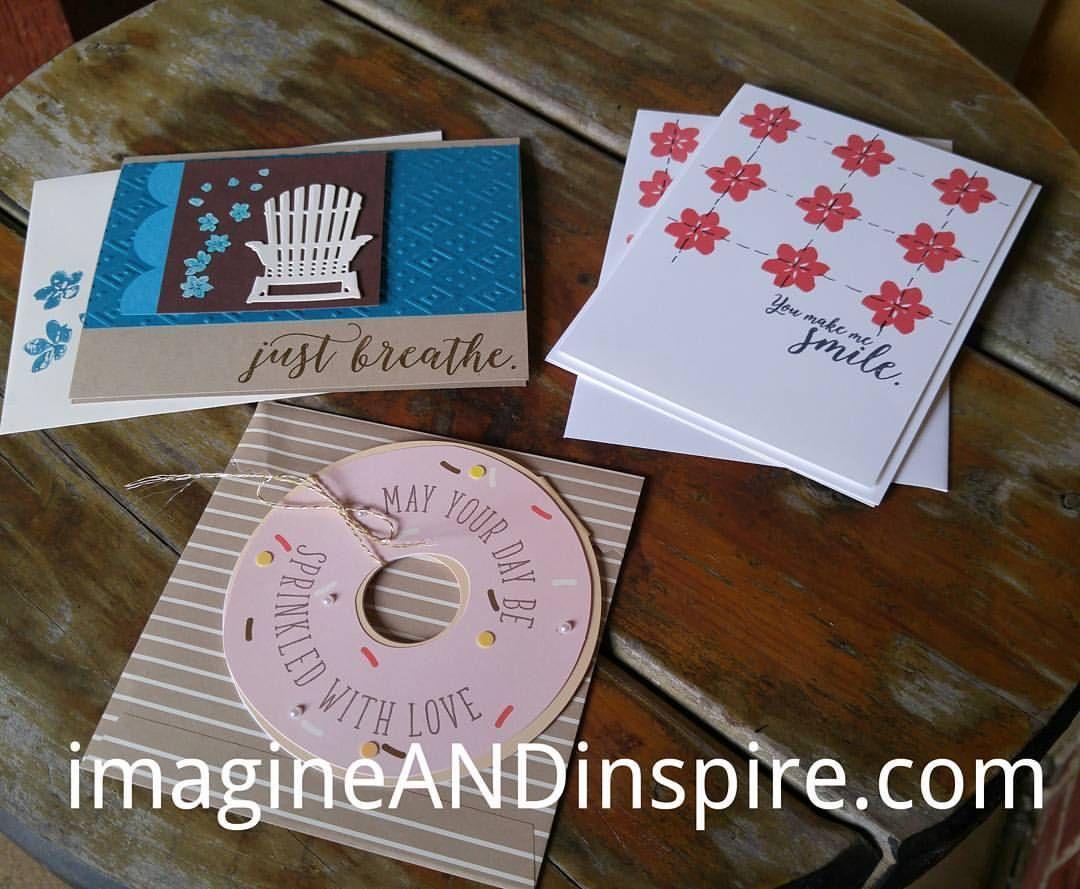 "Gefällt 10 Mal, 1 Kommentare - Sally Saenz (@imagine_n_inspire) auf Instagram: ""Had stamp club today! #cardclub #stampinup #imagineANDinspire #cardclass #workshop #handmade #card…"""