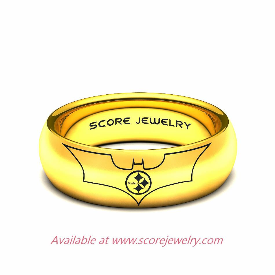 Batman Wedding Ring Pittsburgh steelers ring Wedding Never ever