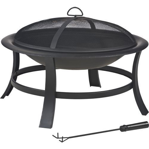 Mosaic 28 In Wolfgang Fire Pit Black Patio Furniture Accessories