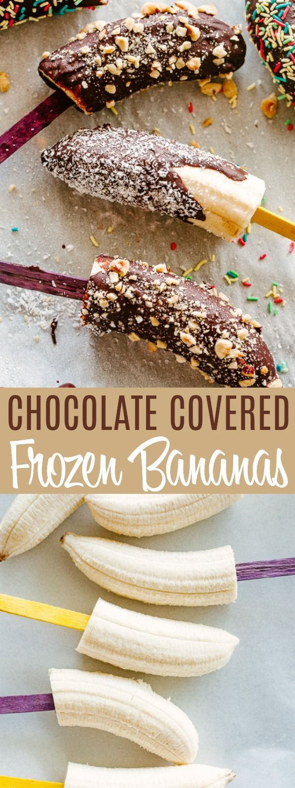 Chocolate Covered Frozen Bananas | Diethood