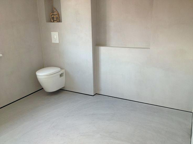 putz im badezimmer wand und boden in putz designideen ohne fliesen ...
