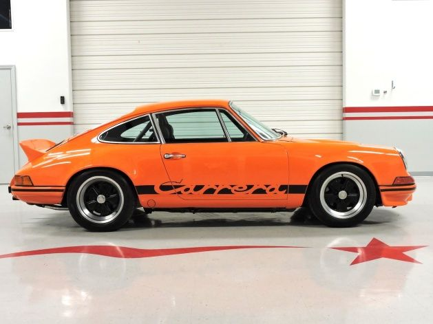 The Restoration Process Of This Remarkable 1973 Porsche Rs Tribute Began With A Rust Free 1983 911sc Body Which Was St Porsche 911 For Sale Porsche Oil Filter