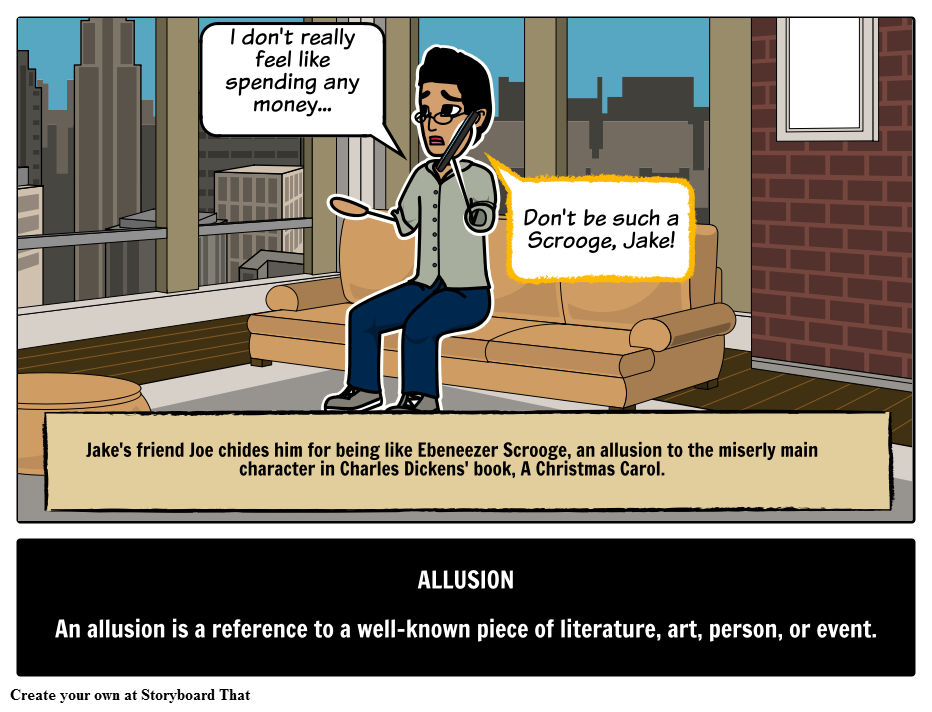 Define Allusion With Picture Storyboards Find Allusion Definition