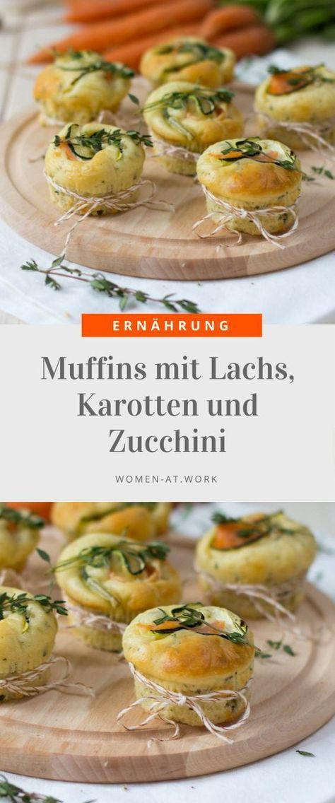 muffins mit lachs karotten und zucchini rezepte pinterest herzhaft backen und essen. Black Bedroom Furniture Sets. Home Design Ideas