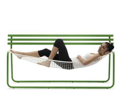 Casual Bench Incorporates A Care Free Hammock Style Seat With The Sturdy  Structure And Backrest, It Is Designed By Emanuele Magini. Great Pictures