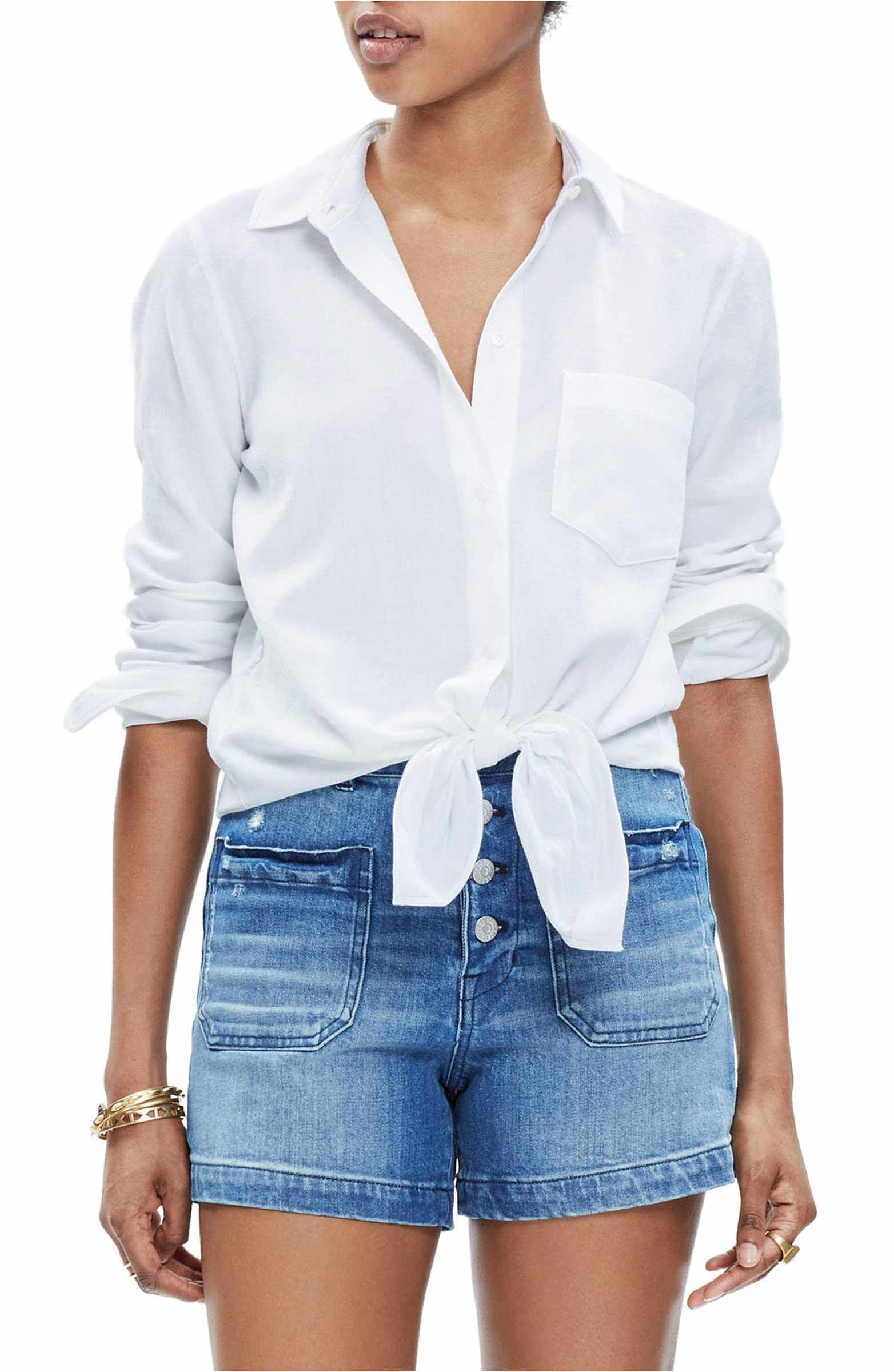 ed1958c3ce Main Image - Madewell Tie Front Shirt | wear • sun's out | Front tie ...