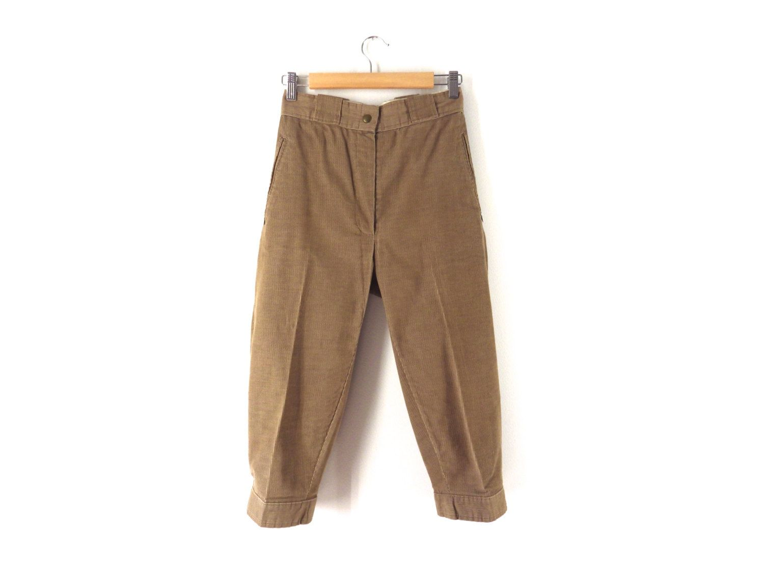 3c112193 Vintage 80s Sunbuster Knickers - Tan, Light Brown Corduroy Plus Fours,  Trousers - Hiking Golf Riding - 26 W XS Small 2 Women Men Children by  Iterations on ...
