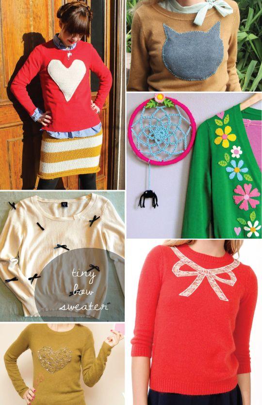 blusas de lã customizadas