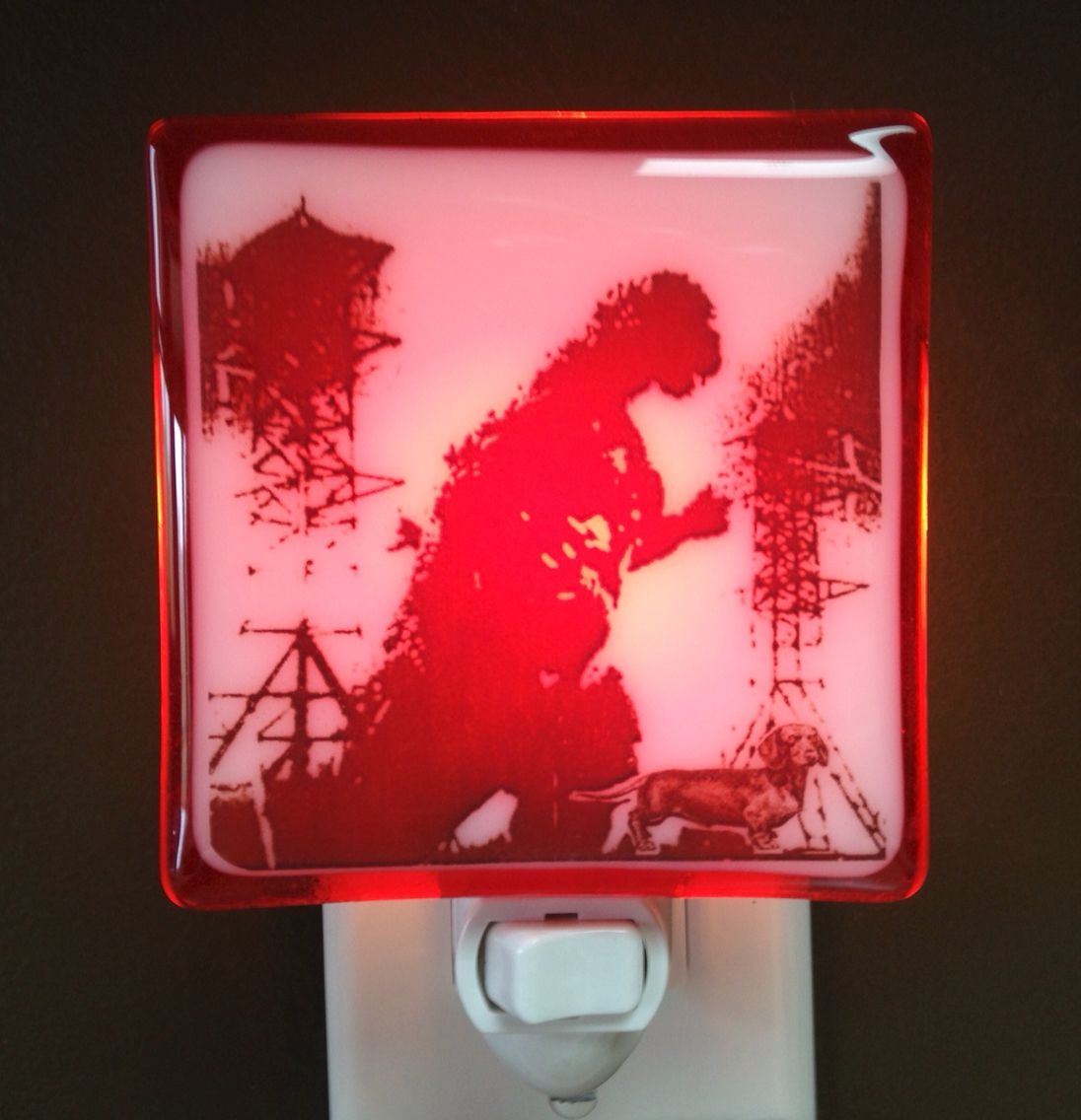 Glass Night Lights Godzilla Night Light Hunky Dory Night Lights Fused