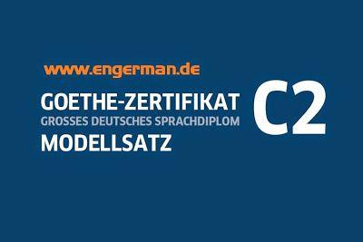 Goethe Zertifikat C2 Modelltest Musterprufung 1 Lösungen Auf