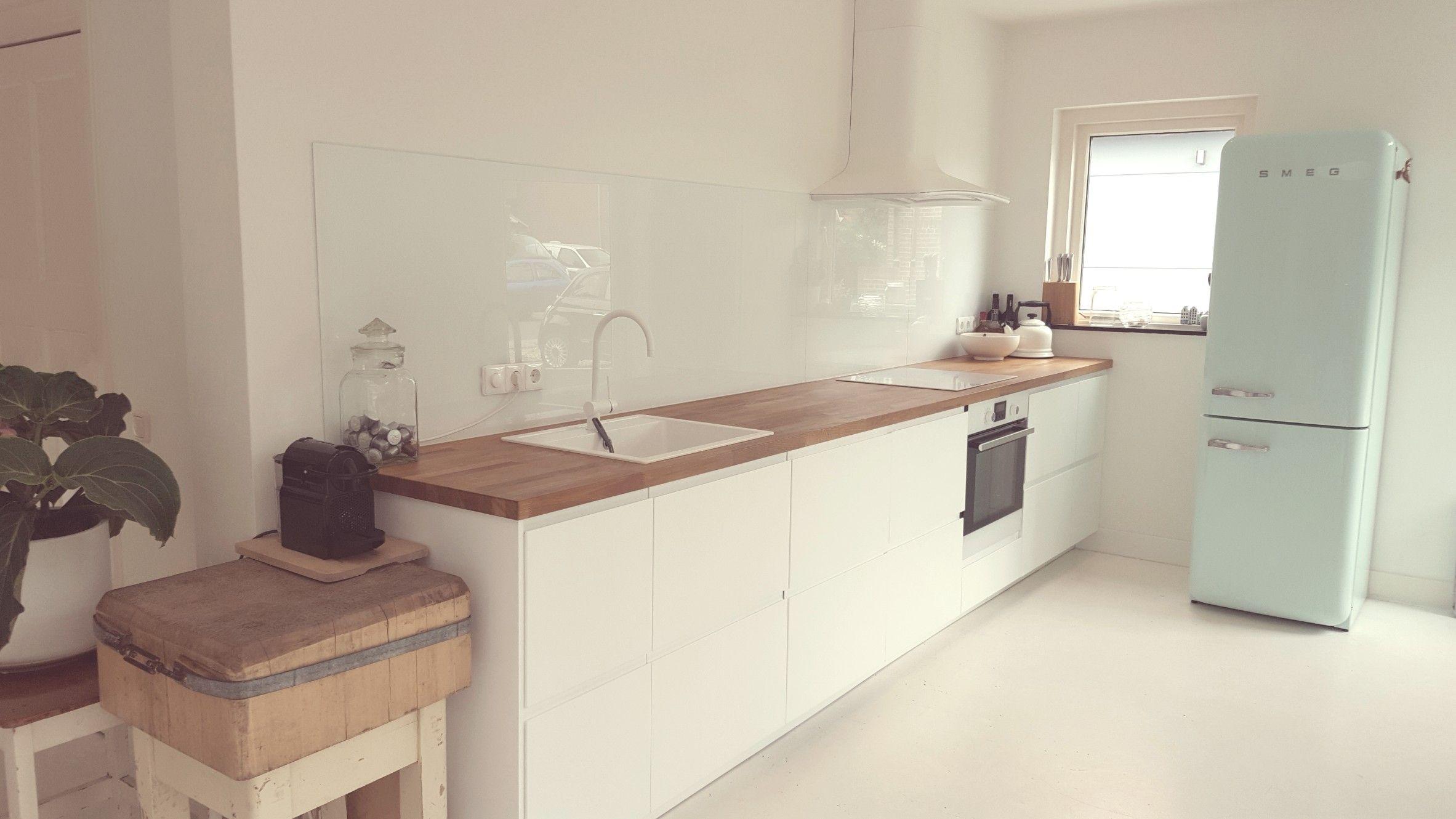 Küchenrückwand Ikea ~ Ikea voxtorp keuken met eiken houten werkblad janine